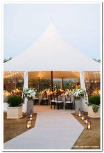ślub w namiocie