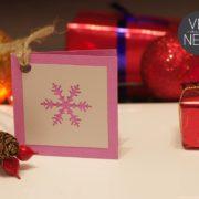 4 bilecik prezentowy sniezynka