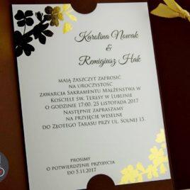Zaproszenie FAXAL czekolada ze złotem