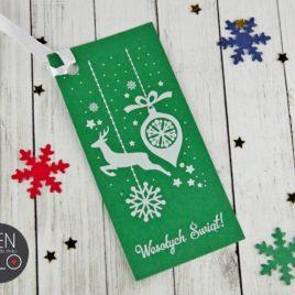 Zawieszki do prezentów świątecznych pionowe