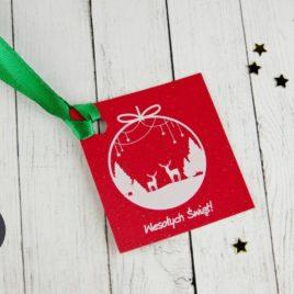 Bileciki do prezentów świątecznych RENIFERY